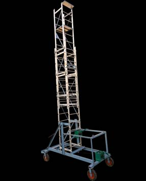 Aluminium tilttable tower extension ladder-2512