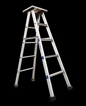 SELF SUPPORTING ALUMINIUM LADDER RELADS -2502 | | Aluminium